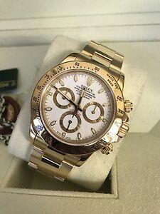 Rolex Daytona solid gold white dial Norwood Norwood Area Preview