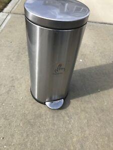 Garbage Can - Simple Human Brushed Steel