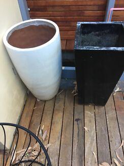 Black and White Plant Pots