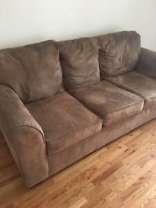 Beige microfibre couch