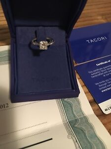 Tacori Engagement ring and Eternity band set