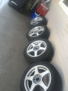 4 Michelin winter tires on rims