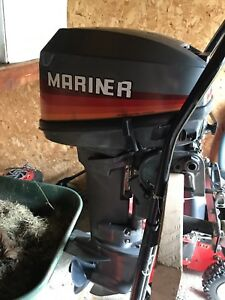 15HP Mariner Mercury Tiller Outboard  1990