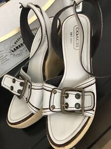 Coach wedge sandals - size 6