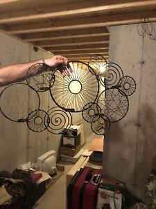 Metal wall decor/candle holder