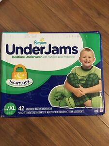 New box of under jams and 7 good nites bedpads