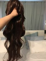 Long brown wavy hair Wig