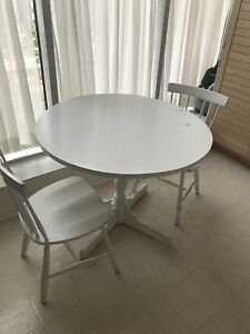 Ikea Round Dining Table + 2 chairs