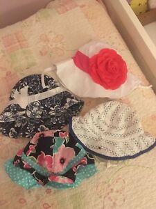 Girls summer hats fit 6-18 months
