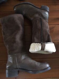 Coach suede and leather winter boots