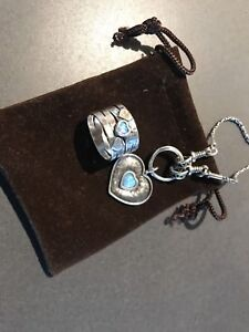 Silver ring and necklace set