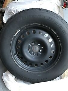 4 winter tires size 245/65/17 BFGOODRICH on rims. Asking $750.
