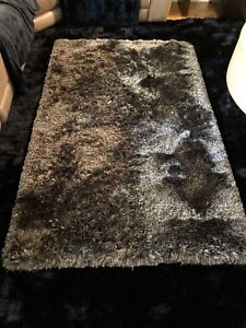 Brown Silk 4x6 Area Rug  (2 available)