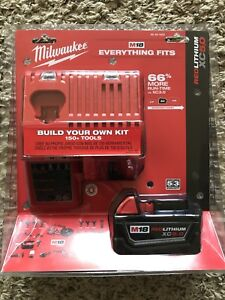 NEW Milwaukee M18 5.0 Ah Battery + Charger