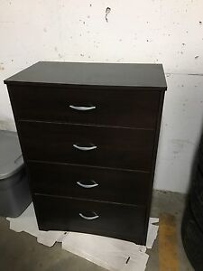 Dark brown dresser - four drawers