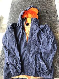 Northface boys XL navy rain jacket