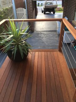 Spotted gum merbau storage box bench seat other home for Garden decking gumtree