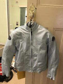Ladies Jo Rocket light blue textile mesh riding jacket