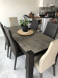 Dinning Table with Natural Stone on wood frame