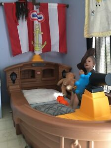 Pirate ship bed w/ matress $300 obo