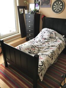 Single bed made in Canada with mattress included