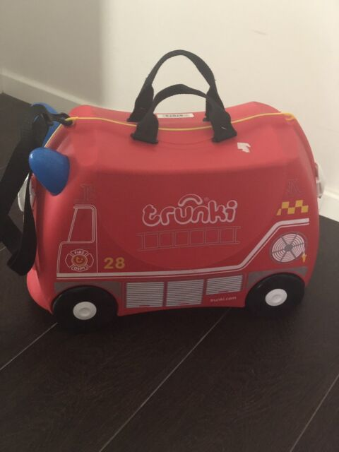 65298deb9a1b Fire Engine Frank - Trunki Ride on Suitcase