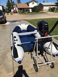 Inflatable boat and new 6 hp four stroke motor