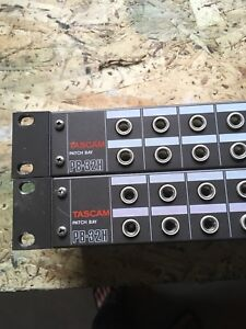 "Tascam 32 point 1/4"" patchbays"