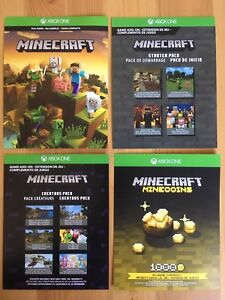 Xbox One Minecraft full game plus add-ons