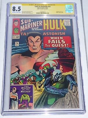"Tales to Astonish #74 CGC Signature Series Autograph STAN LEE ""Death"" of Leader"