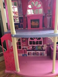 Barbie dream house and other girls toys