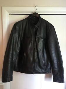 Men's Leather Motorcycle Jacket XL