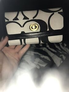 Black and white coach wallet for trade