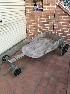 4 wheel sled with rope 160x60