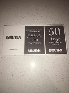 Fabutan gift coupon