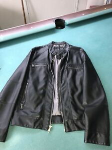 Guess leather jacket for men