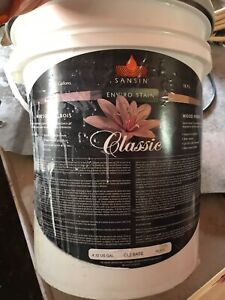5 gallon pail of clear stain