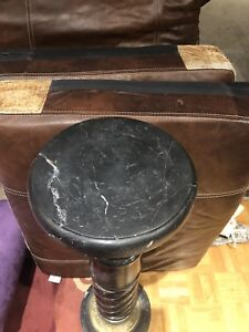 Antique marble pedestal