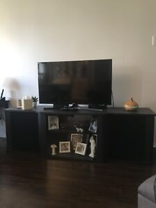 Large TV table with storage