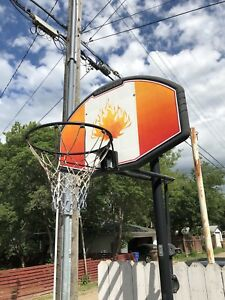 Huffy Sports Adjustable In Ground Basketball Hoop