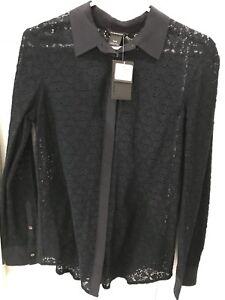 NWT $139.50 Club Monaco Lace/Silk blouse