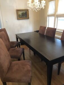 Custom Dining Table and Chairs