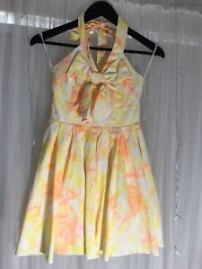 Orange and Yellow Paper Heart Dress Size 8