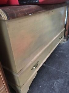 Cedar chest for linen/storage or an excellent coffee table