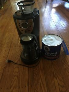 Coffee maker and coffee never been opened