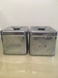 Coffee and tea tin containers
