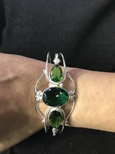 Lab Emerald sterling silver