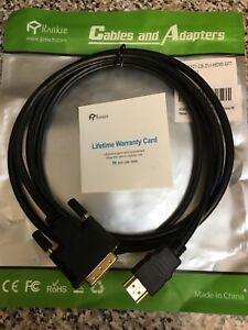 HDMI to DVI/DVI to HDMI Bi-Directional cable 6 ft. Long