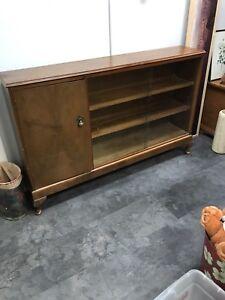 Antique display cabinet/bar