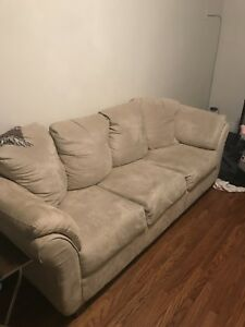 Big suede 3 seater couch